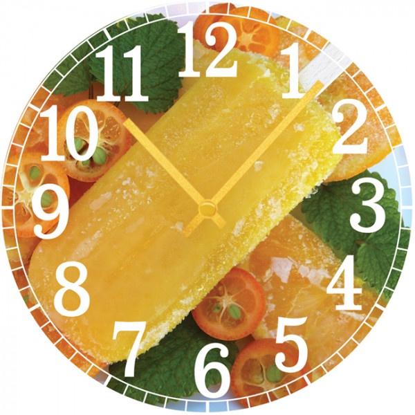 Настенные часы Kitchen Interiors 30013153001315Настенные часы для кухни. Механизм: Кварцевый; Корпус: Дерево; Размер: Диаметр 30 см;Рисунок: Мороженное