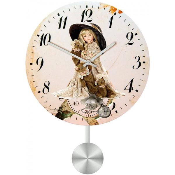 Настенные часы Kids Dream 30110373011037Настенные часы для гостиной с маятником. Механизм: Кварцевый; Корпус: Дерево; Размер: Диаметр 30 см;Рисунок: Кукла