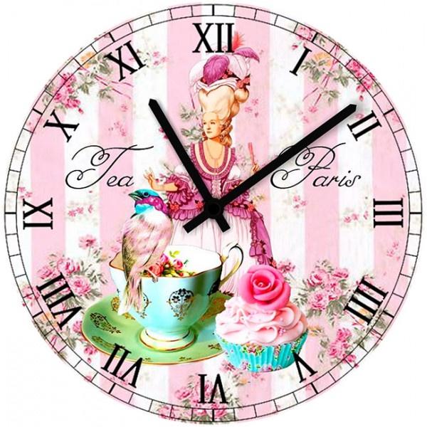 Настенные часы Kids Dream 35010523501052Настенные часы для гостиной. Механизм: Кварцевый; Корпус: Дерево; Размер: Диаметр 35 см;Рисунок: Принцесса с девочкой в чаше