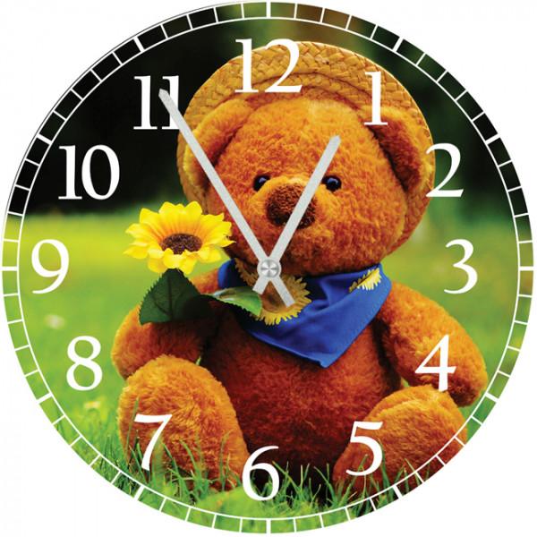 Настенные часы Kids Dream 40011464001146Настенные часы для детской. Механизм: Кварцевый; Корпус: Дерево; Размер: Диаметр 40 см;Рисунок: Мишка с цветком