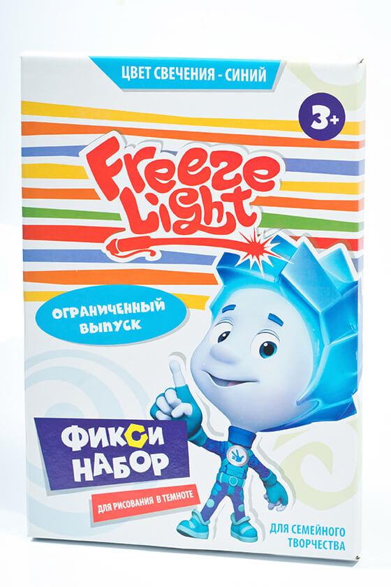 Набор для рисования Freeze Light Фиксики. Нолик планшет для рисования в темноте формат А4