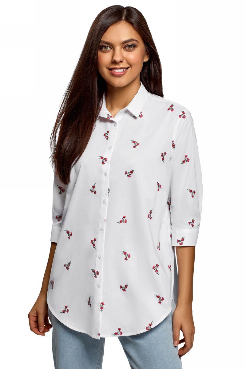 Рубашка oodji bonpoint хлопковая рубашка artiste
