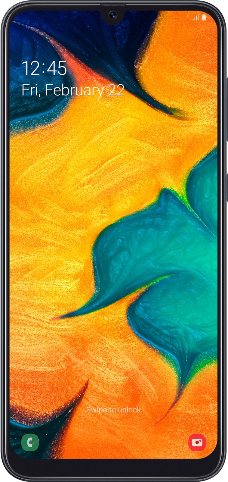 Смартфон Samsung Galaxy A30 32 GB, черный