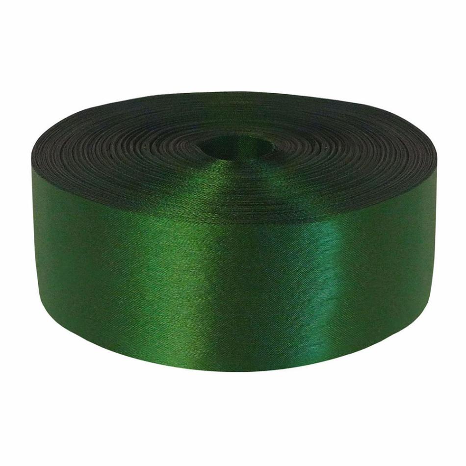 Лента Свадьба атласная, зелёная, ширина 5см, длина 98м лента свадьба атласная тёмно зелёная ширина 10см длина 98м