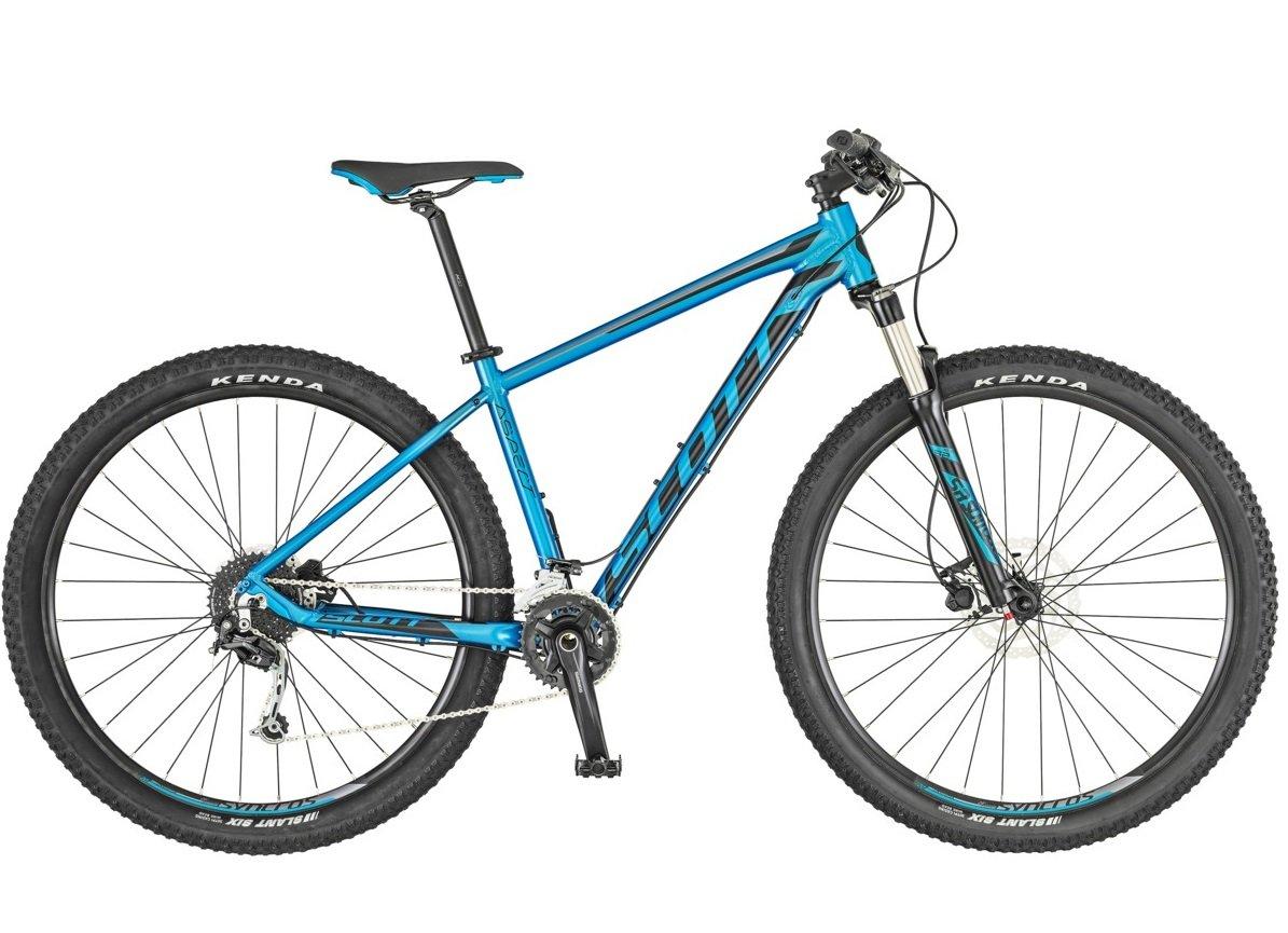 Велосипед горный Scott Aspect 930, 269801, синий, черный, размер рамы M велосипед scott scale 930 2018
