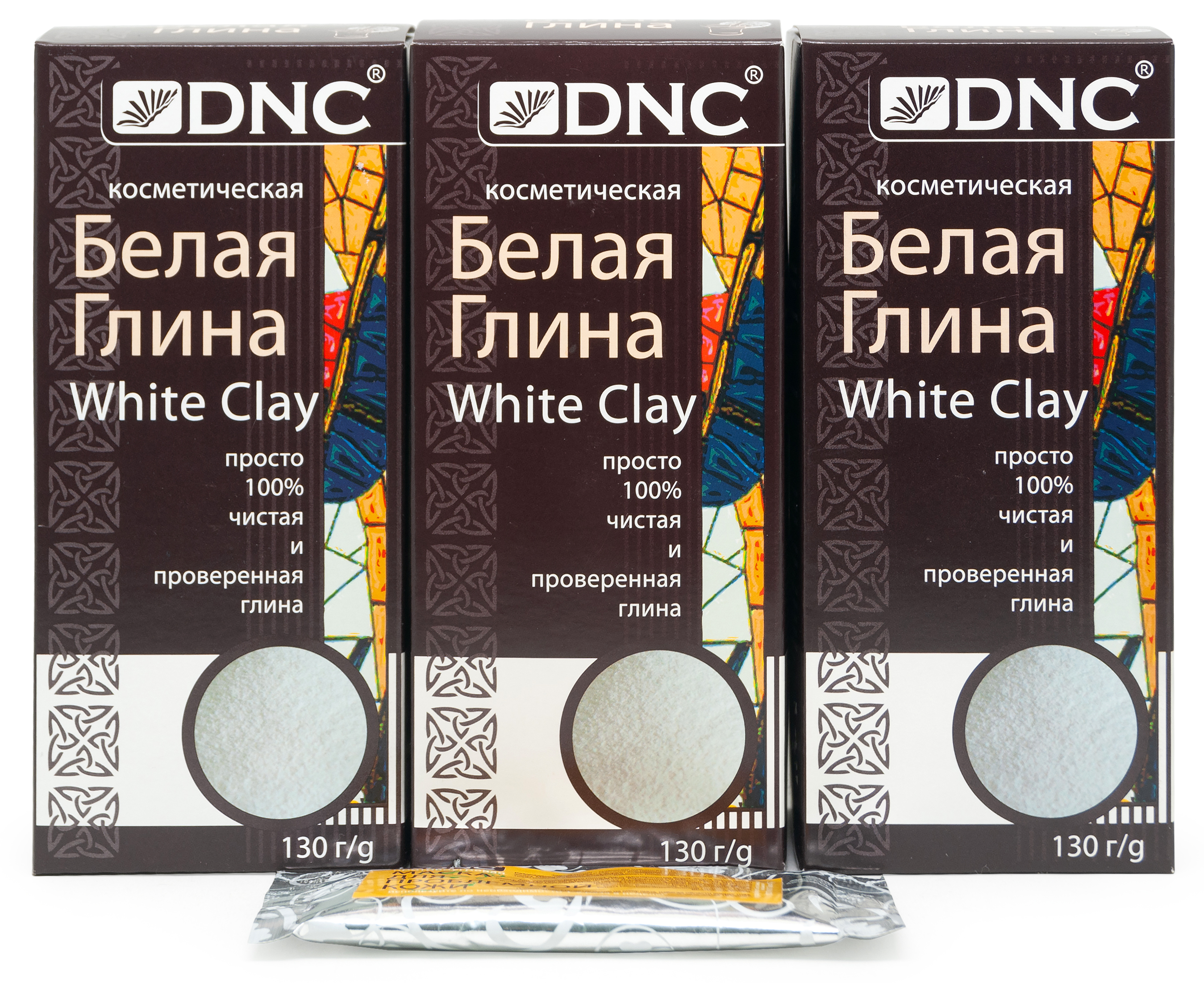 Набор: DNC Глина белая 130 г * 3 шт + Подарок Маска для лица 15 мл