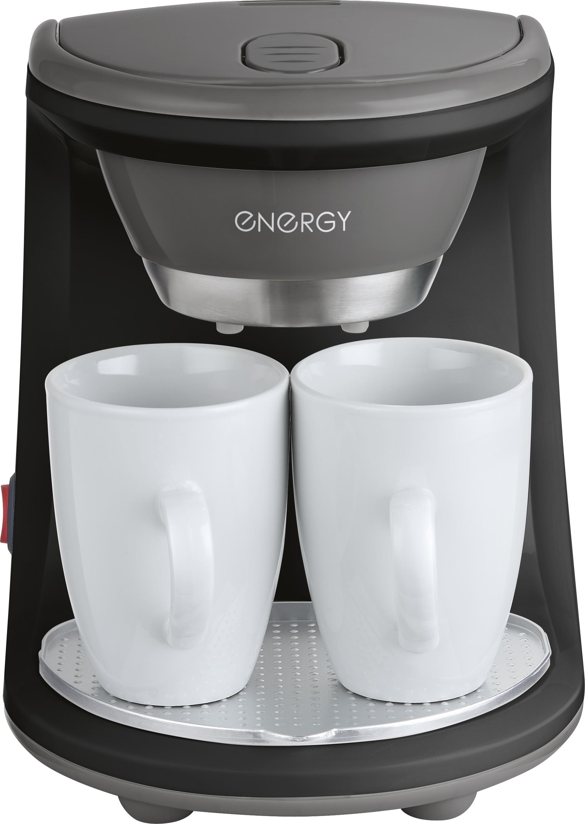 Кофеварка электрическая ENERGY EN-605, черный кофеварка energy en 601 450вт кремовая 2 чашки