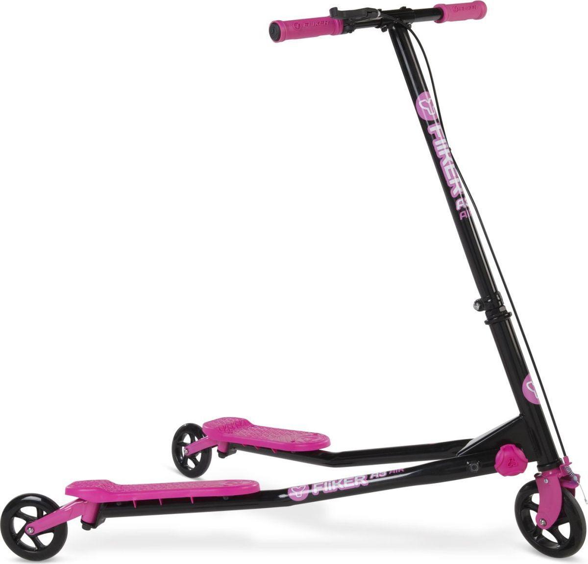 цены на Самокат инерционный детский Yvolution Fliker Air A3, 100020, розовый  в интернет-магазинах