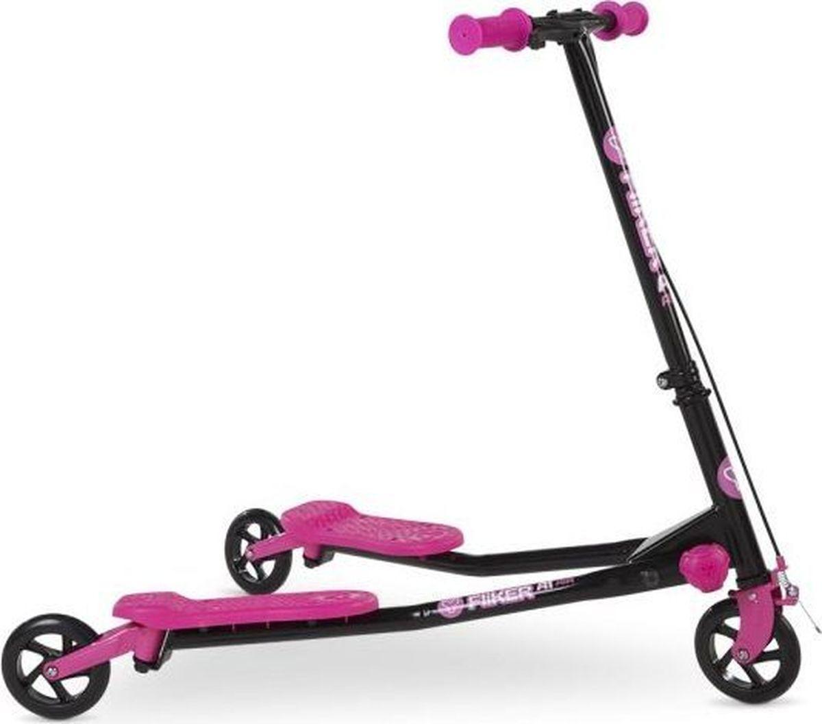 Самокат инерционный детский Yvolution Fliker Air A1, 100031, розовый цена