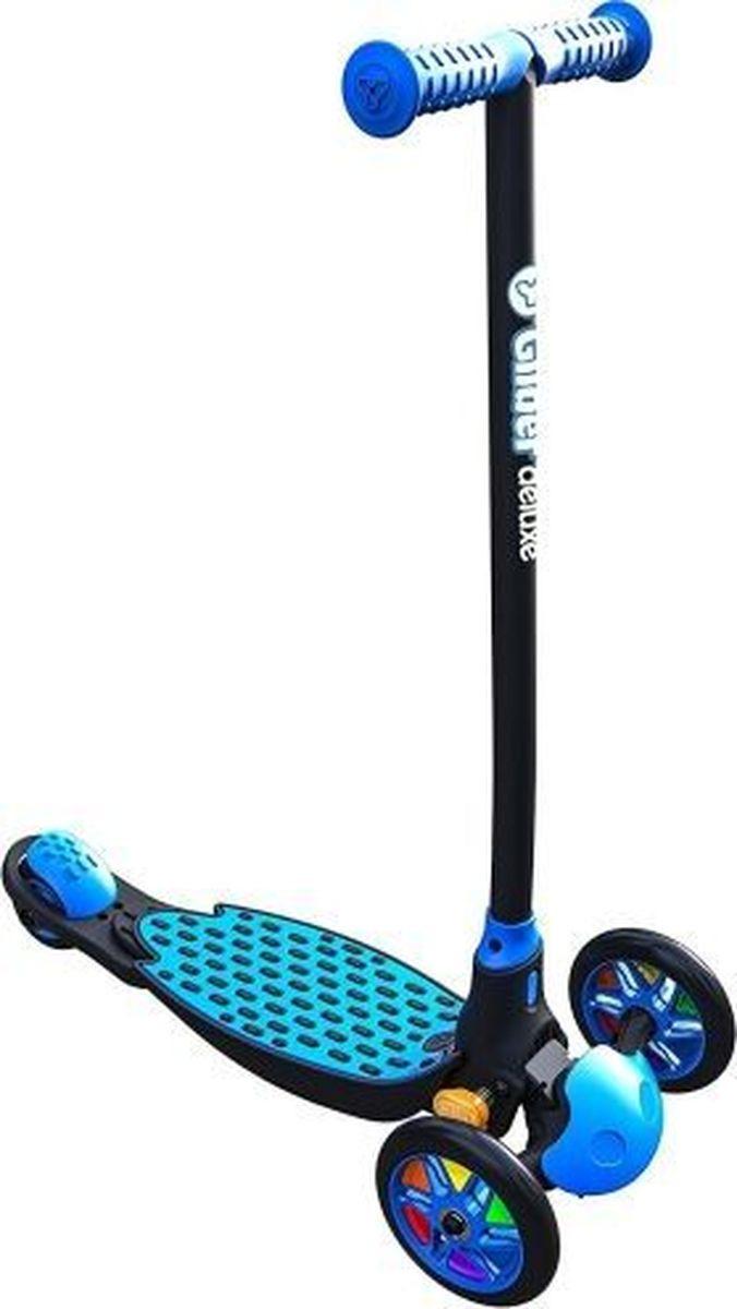 Cамокат Yvolution Glider Deluxe, 100883, синий, черный