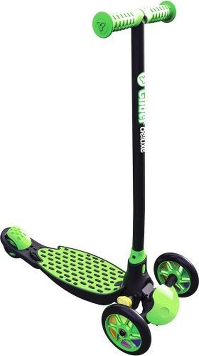 Cамокат Yvolution Glider Deluxe, 100884, зеленый, черный cамокат y glider deluxe yvolution cамокат y glider deluxe