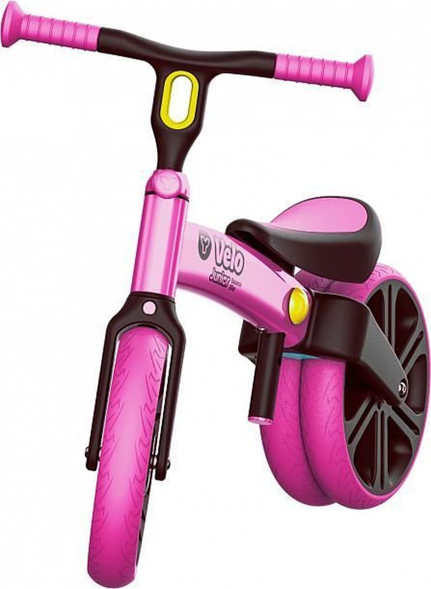 Беговел YVolution Velo Junior, 101050, розовый беговел velo junior yvolution беговел velo junior