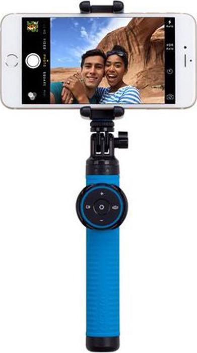 лучшая цена Momax Selfie Hero, Black монопод с Bluetooth пультом