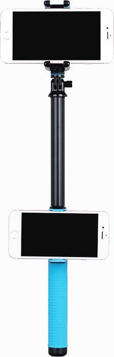 Монопод для селфи Momax MSHDuo-100 cm, 4894222050020, синий монопод для селфи momax selfie hero 150 cm желтый