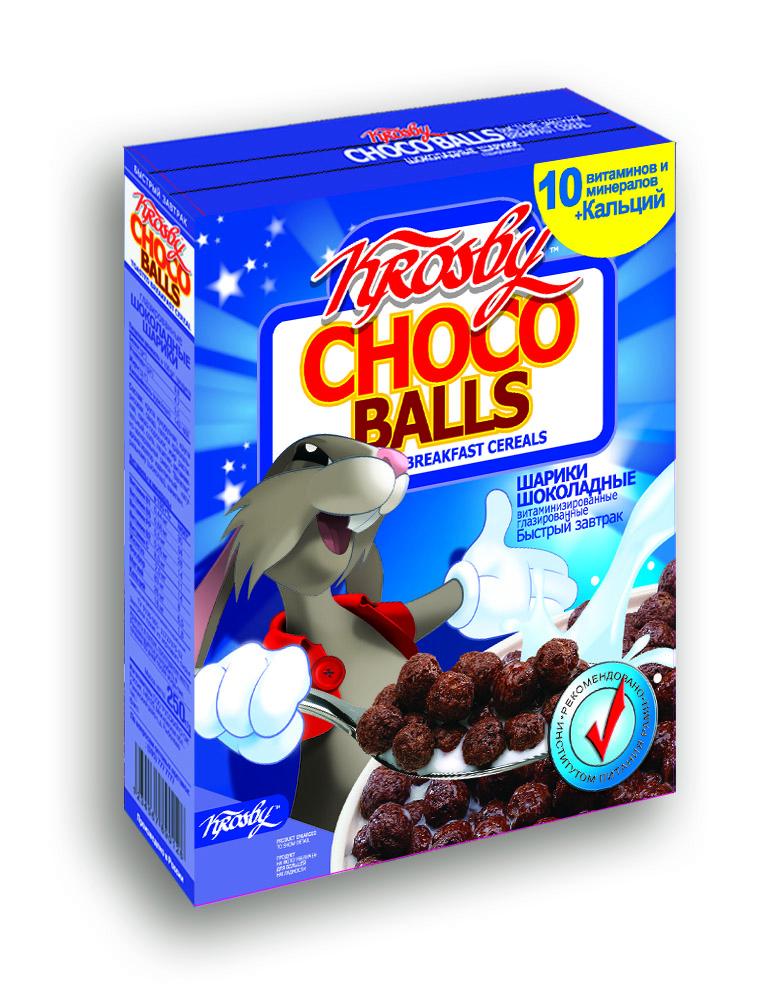 Готовый завтрак Krosby Шарики шоколадные, 200 недорого