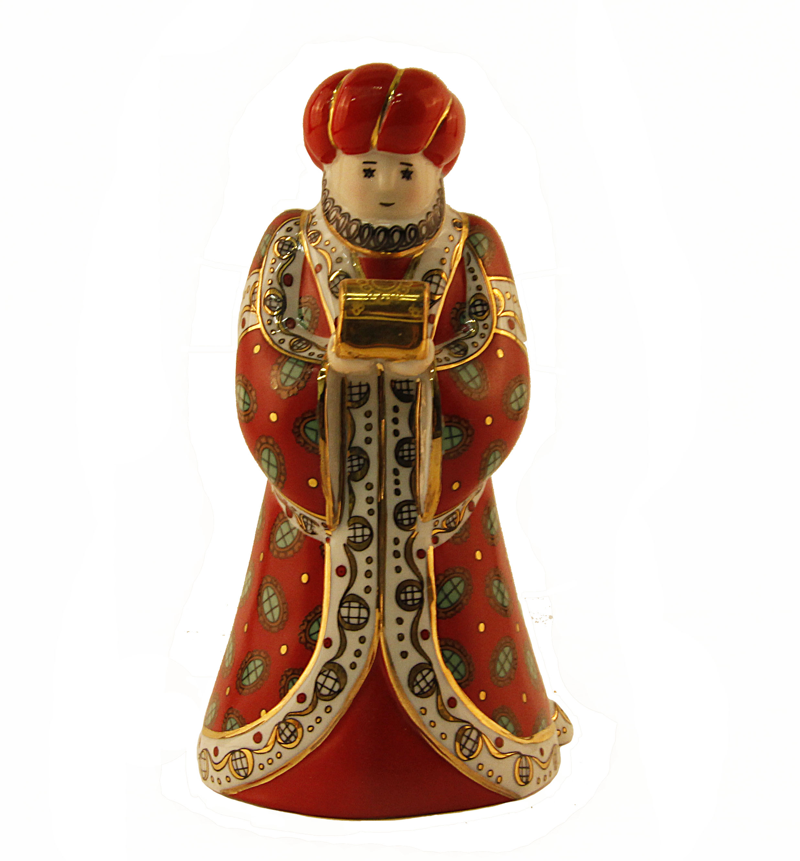 Статуэтка Faberge OC33717, красный, белый, золотой, зеленый