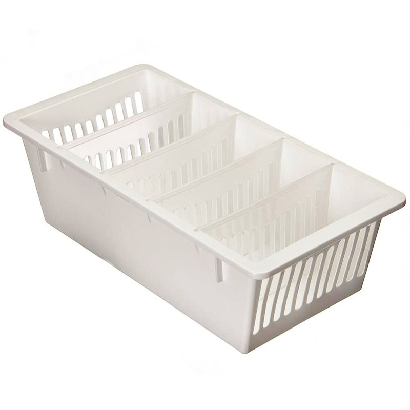 Ящик Полимербыт Контейнер для специй, 5 секций, белый, 28,5х14х85 см., белый контейнер для мусора полимербыт 14 л