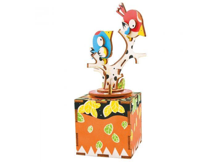 цены Деревянный конструктор Robotime Деревянный 3D конструктор - музыкальная шкатулка Song of Bird and Tree