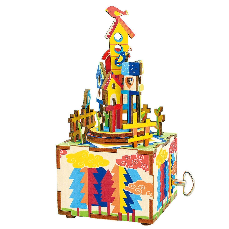 Деревянный конструктор Robotime Деревянный 3D конструктор - музыкальная шкатулка Castle in the sky конструктор robotime любимая кофейня 203 элемента