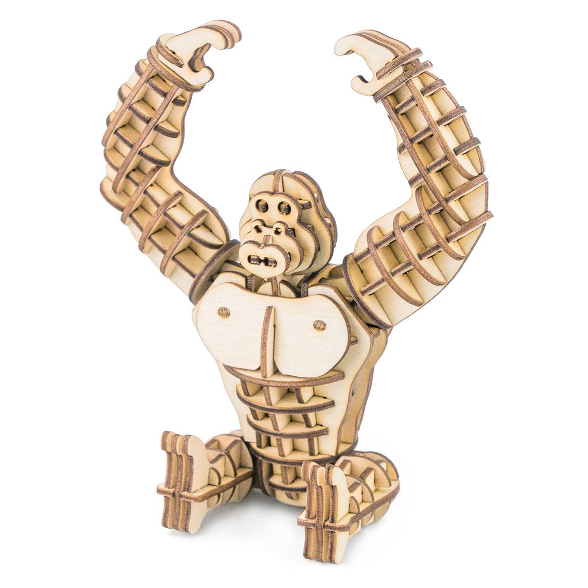 3D Пазл Robotime Деревянные 3D пазлы Gorilla стоимость