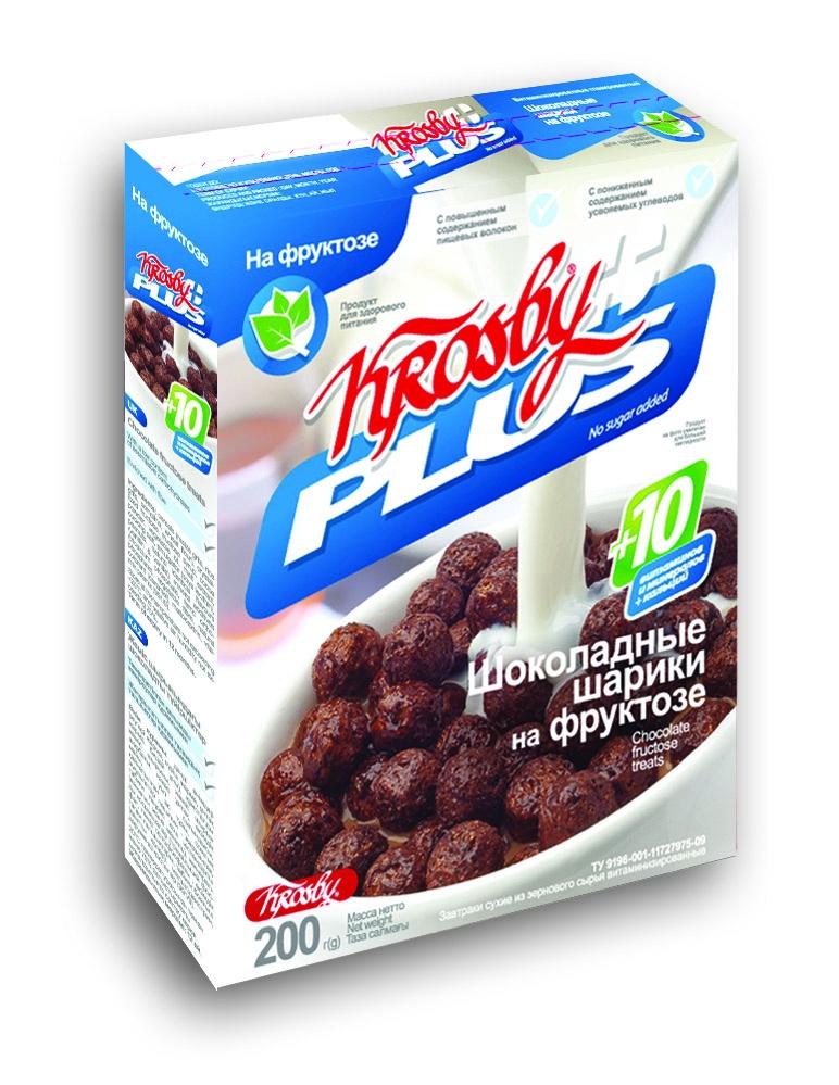 Готовый завтрак Krosby Шоколадные шарики на фруктозе, 200 недорого