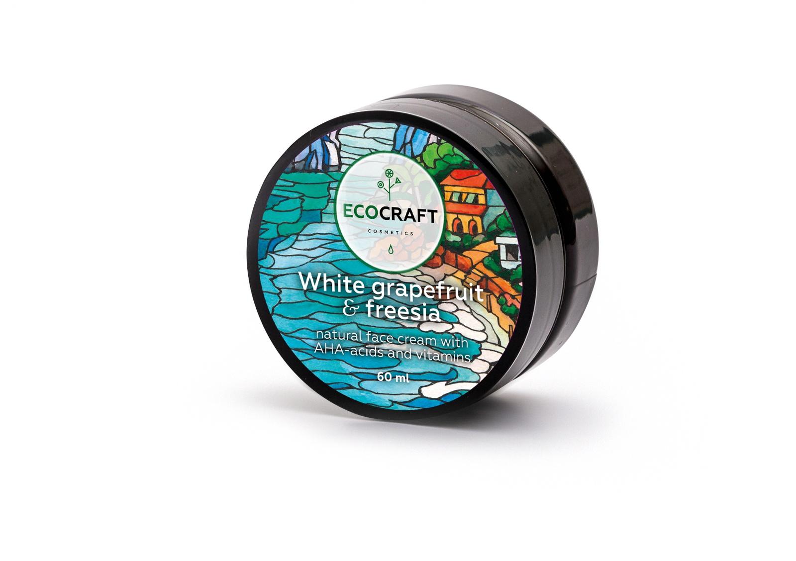 Крем для ухода за кожей ECOCRAFT Cosmetics лица с витаминами и АНА-кислотами для жирной и комбинированной кожи