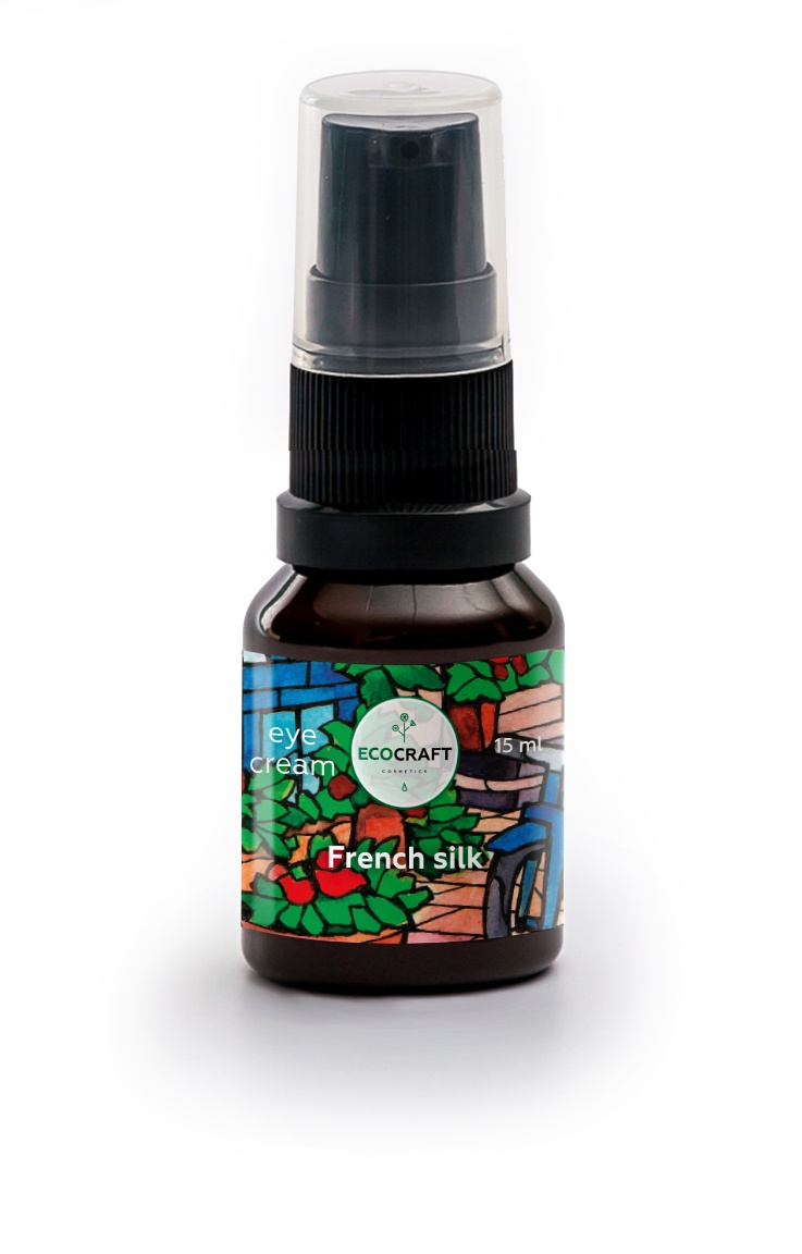 """Крем для ухода за кожей ECOCRAFT Cosmetics вокруг глаз регенерирующий """"French silk"""" Французский шелк, 15 мл"""