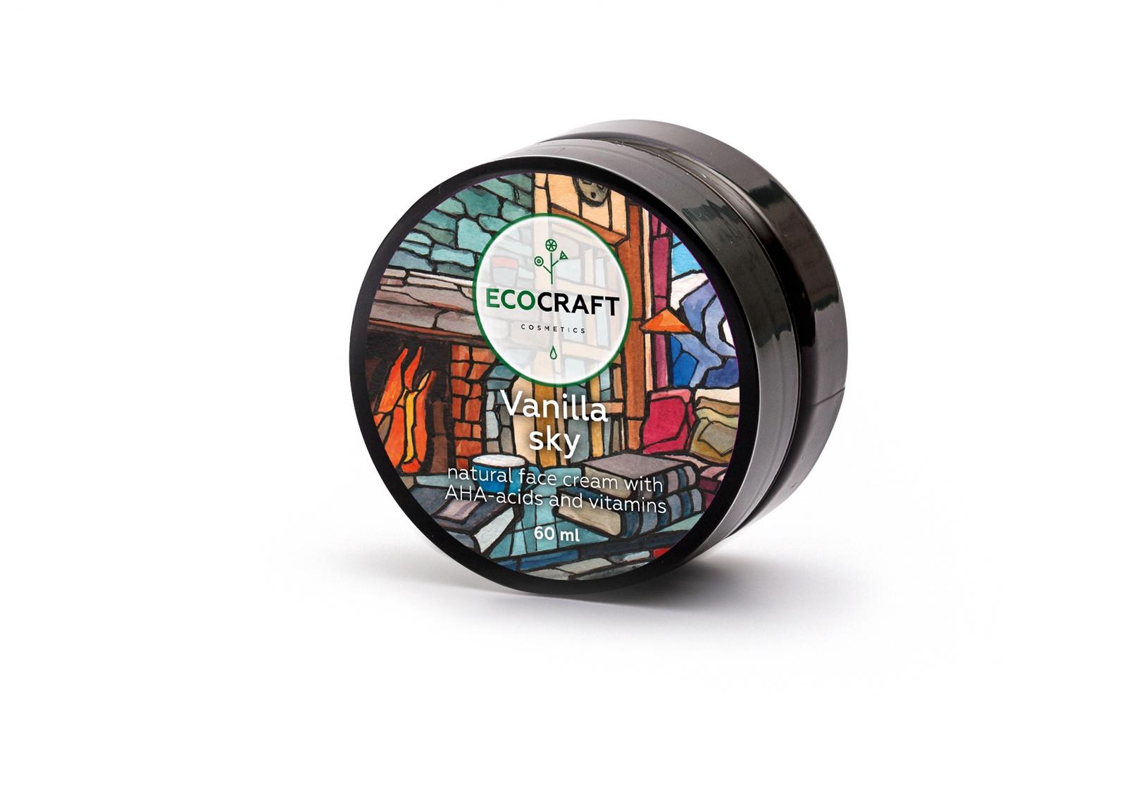 Крем для ухода за кожей ECOCRAFT Cosmetics лица с витаминами и АНА-кислотами с лифтинг-эффектом
