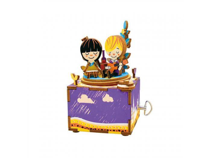 Деревянный конструктор Robotime Деревянный 3D конструктор - музыкальная шкатулка Summer's Day конструктор robotime любимая кофейня 203 элемента