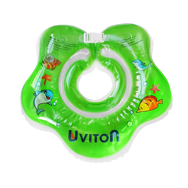 Круг для купания UVITON с погремушкой зеленый