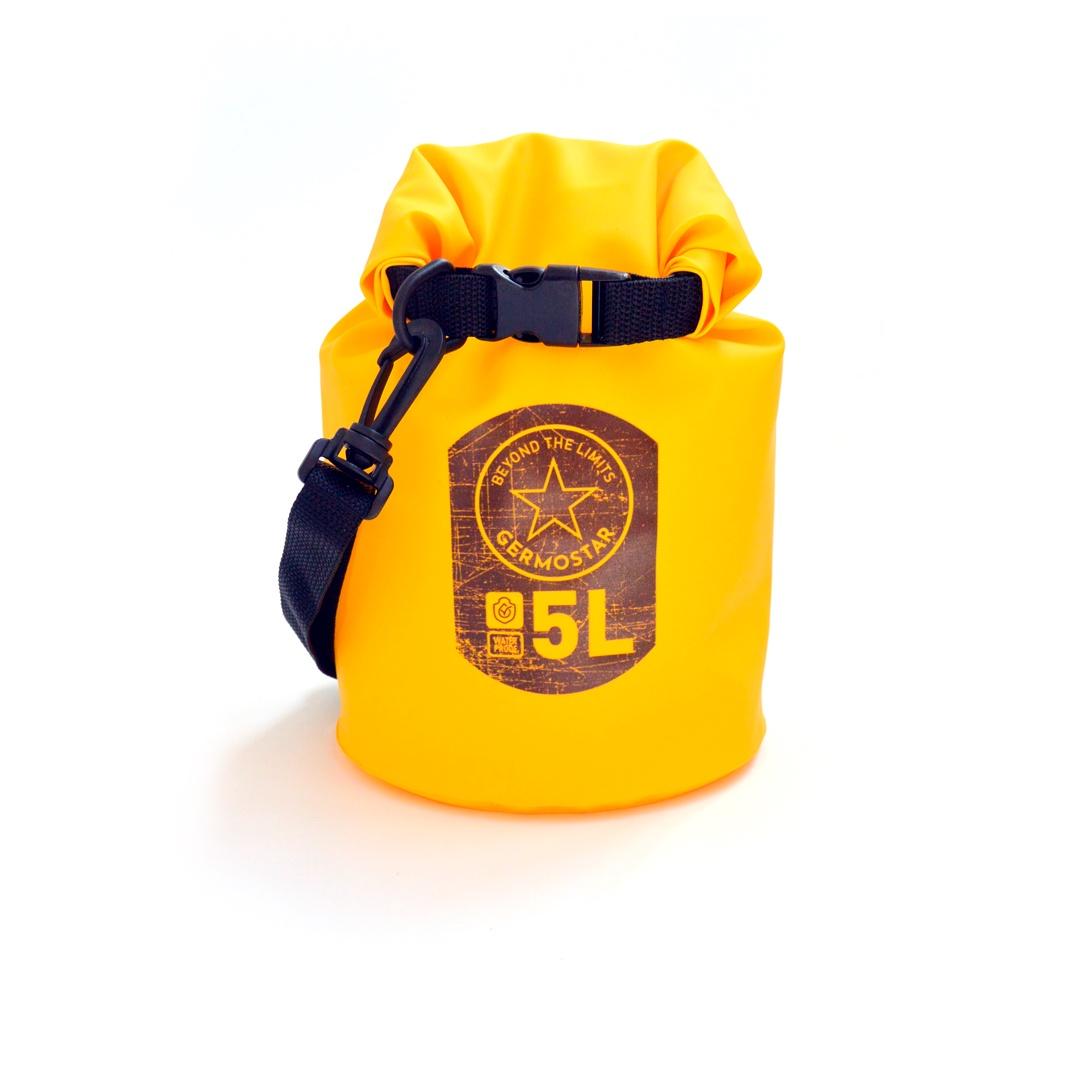 Гермомешок GERMOSTAR PRO пвх трикотаж 5 л, желтый холодильник samsung rb6000 с увеличенным полезным объёмом spacemax™ 367 л