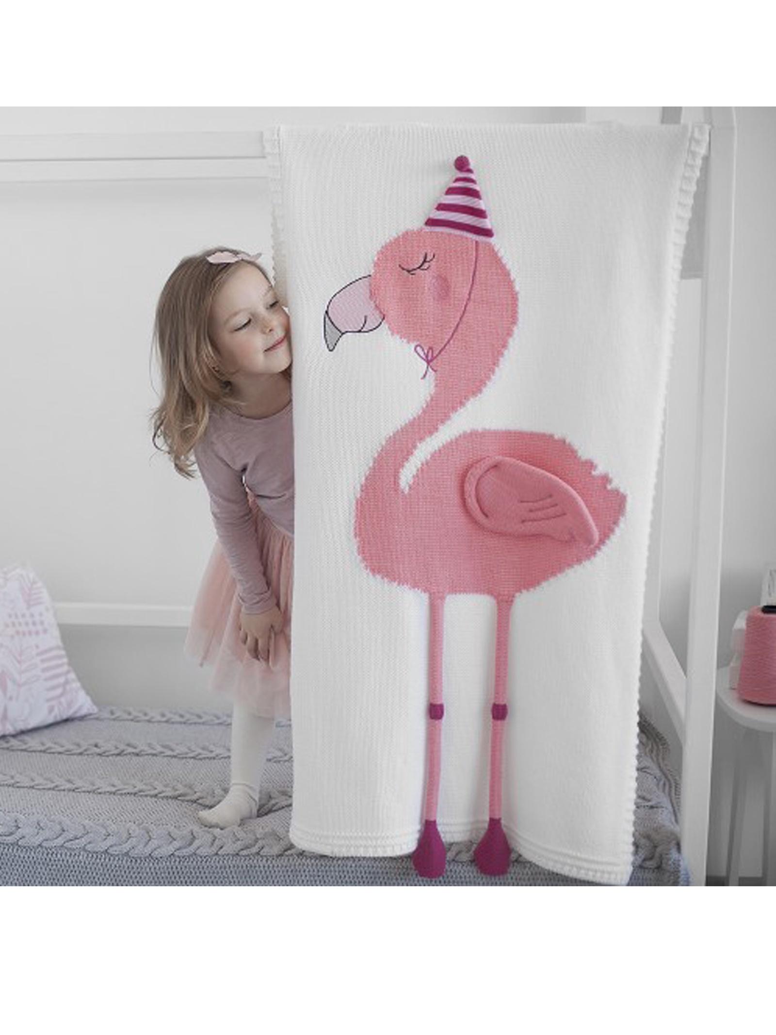 Детский плед Apero AP302-2WH, белый, розовый