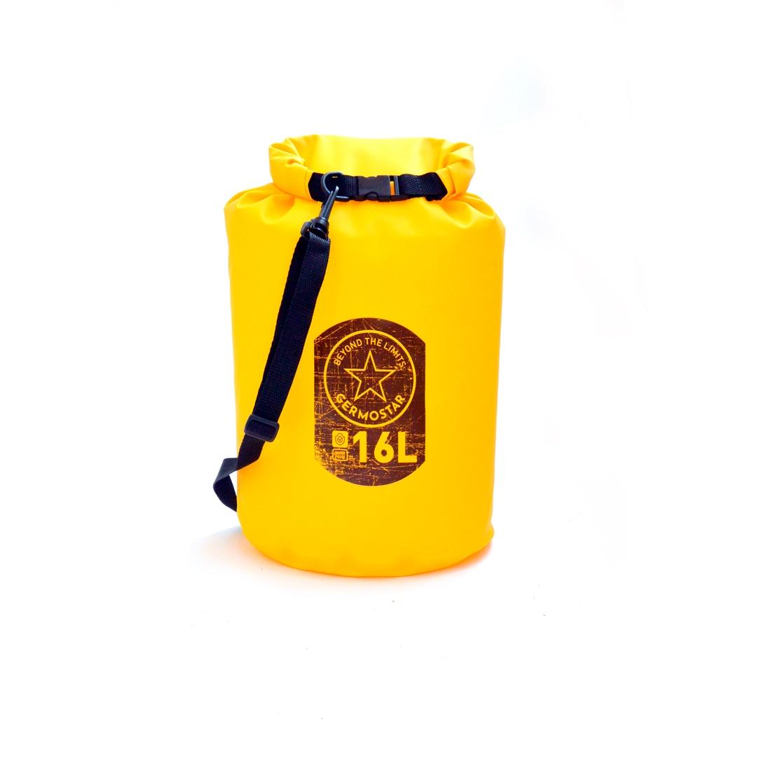 Гермомешок GERMOSTAR PRO ПВХ трикотаж 16 л, желтый
