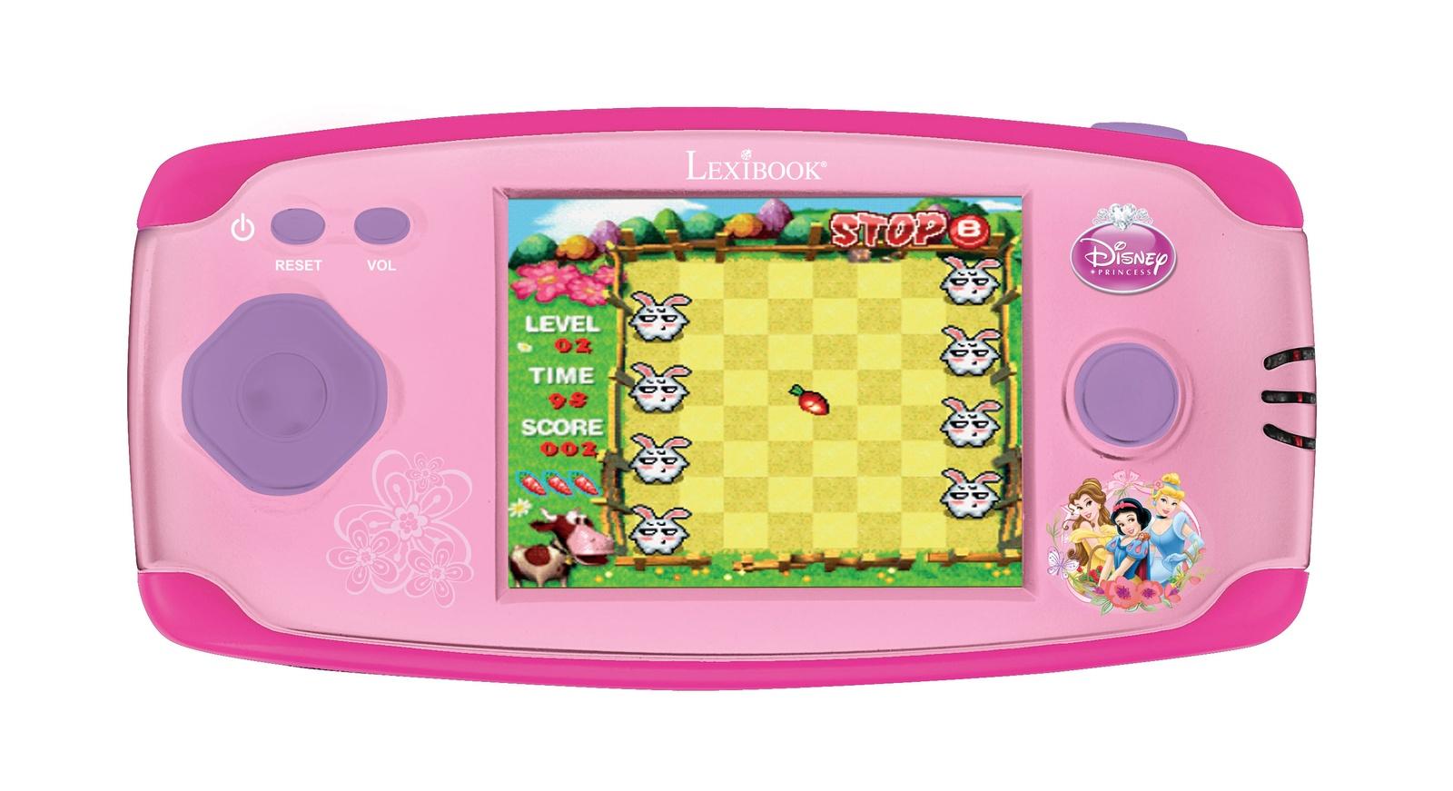 Игровая приставка Lexibook Принцессы Дисней, розовый игровая приставка портативная