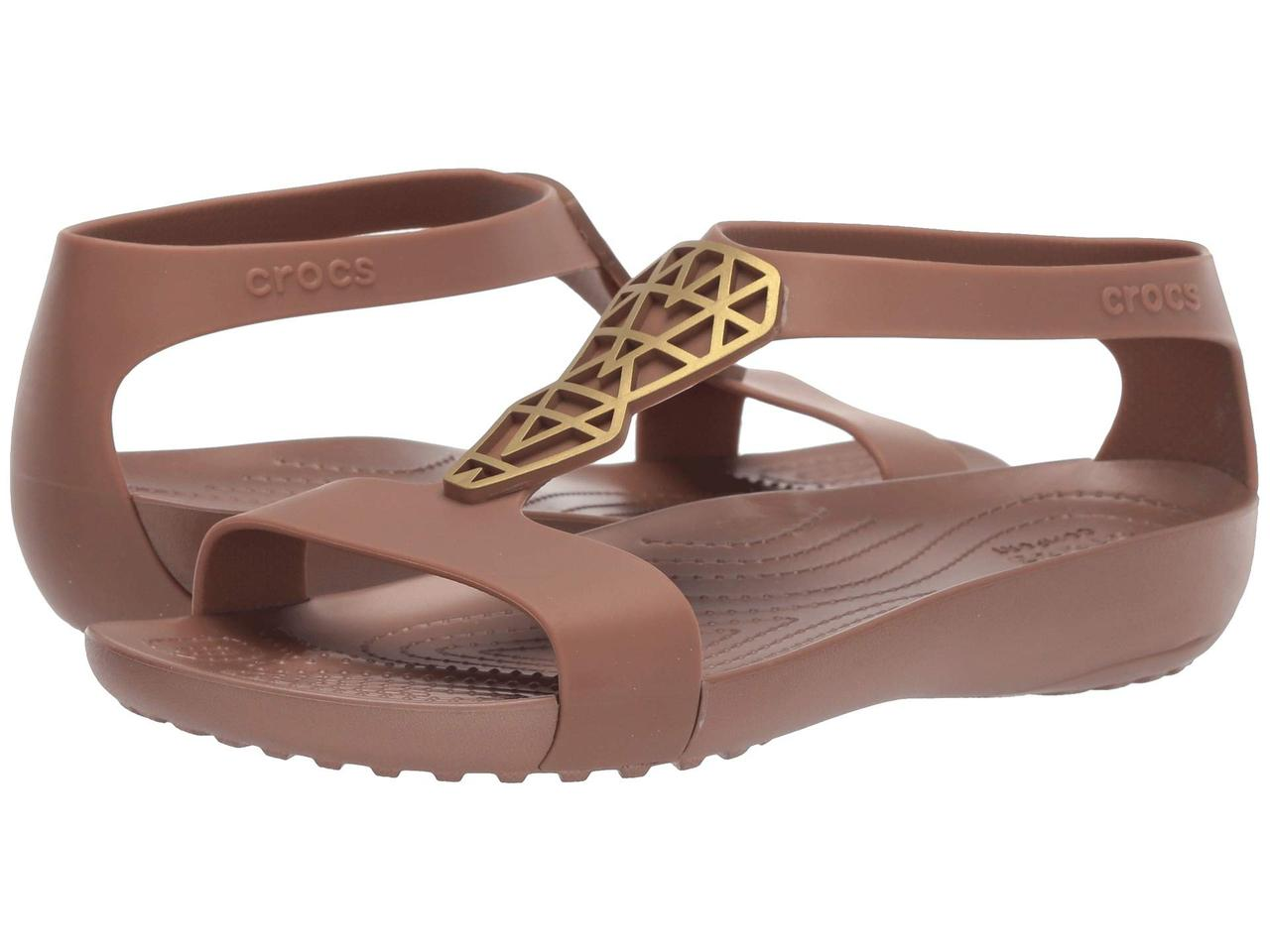 Сандалии женские Crocs Serena Embellished Sandal В, цвет: бронза. 205601-860. Размер 10 (40)205601-860