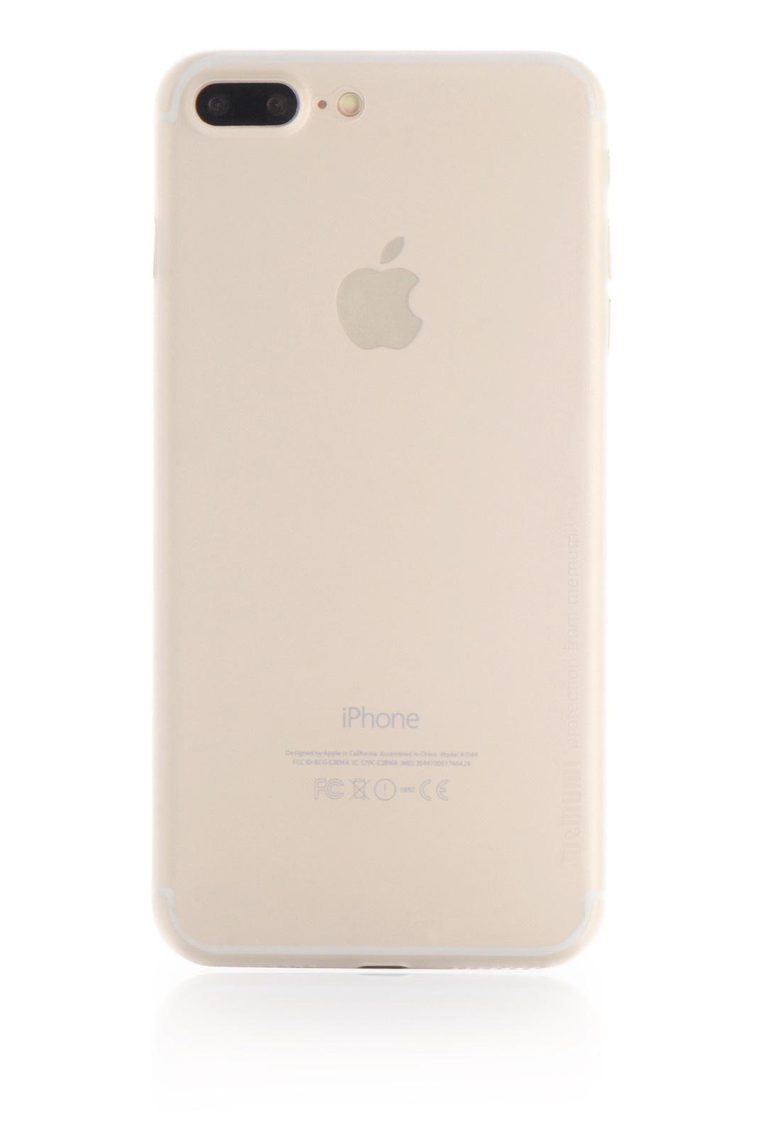 "Чехол для сотового телефона Memumi Ultra Slim Premium 901641 пластик 0.3 mm для Apple iPhone 7 Plus/8 Plus 5.5"", белый"