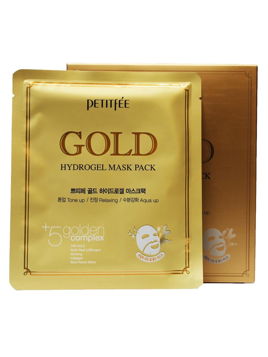 Маска косметическая Petitfee Гидрогелевая для лица с золотом Gold Hydrogel Mask цена и фото