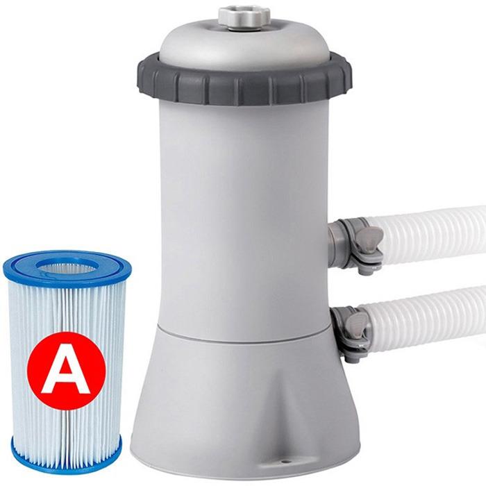 Фильтр-насос для бассейна Intex, с28604, белый, 530 гал/час, 220V фильтр насос для бассейна intex ультра песочный с26646 белый 732 х 366 см 220v