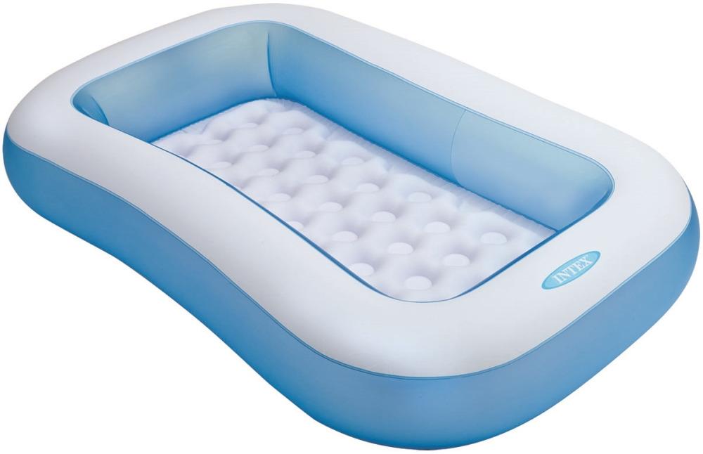 Бассейн Intex, надувной, прямоугольный, с57403, голубой, 166 х 100 х 28 см тент от солнца для бассейна intex прямоугольный с сумкой с29030 голубой 960 х 466 см