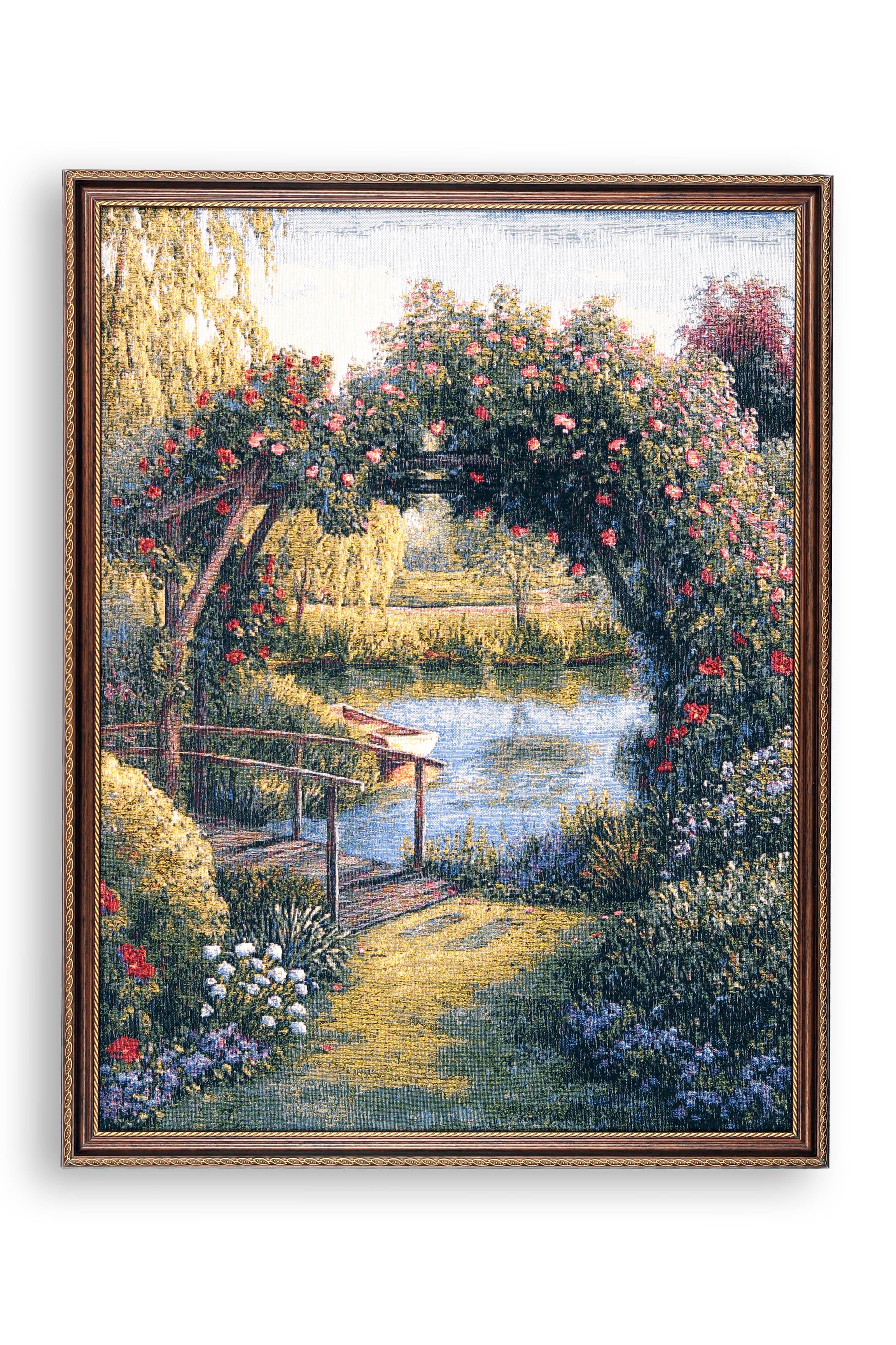 Фото - Картина Магазин гобеленов бережок 53*70см, Гобелен гобелен картина интерьерная магазин гобеленов букет роз бордюр 65 на 85 см
