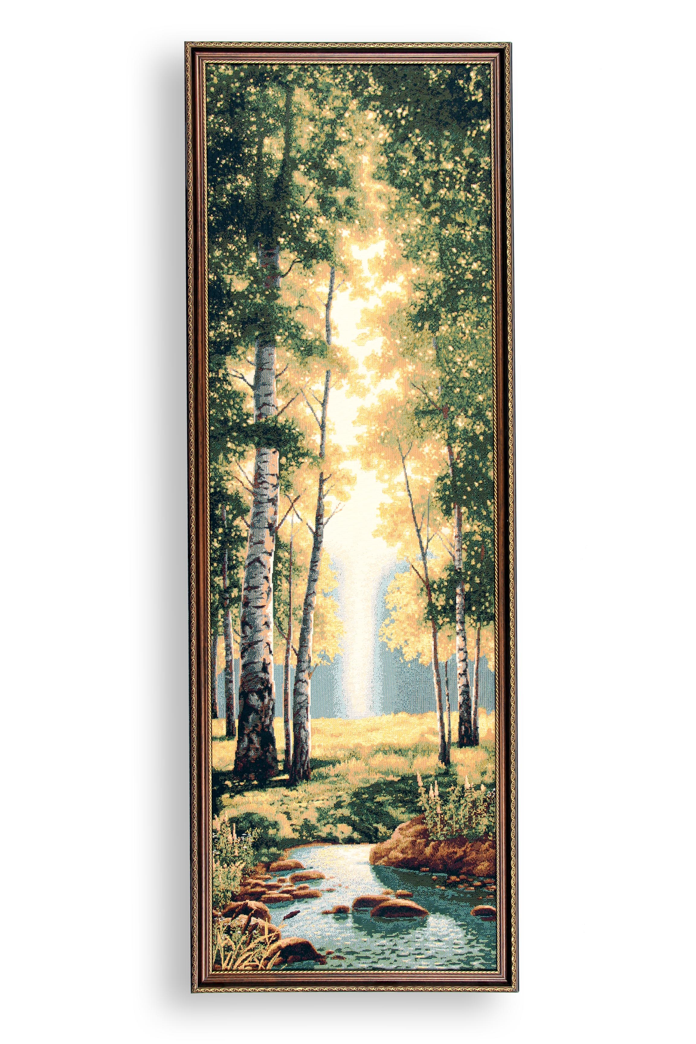 Картина Магазин гобеленов зеленый лес 40*115см, Гобелен цена и фото