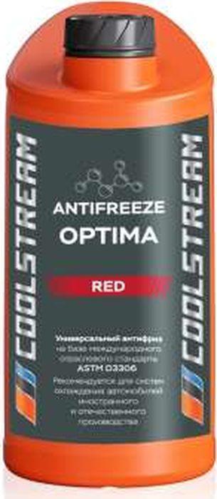 Антифриз CoolStream Optima, CS-010701-RD, красный, 1 л антифриз pilots red line цвет красный 40°с 1 л