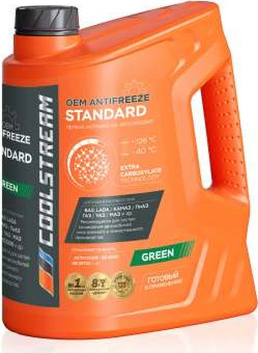 Антифриз CoolStream Standard 40, зеленый, 5 л