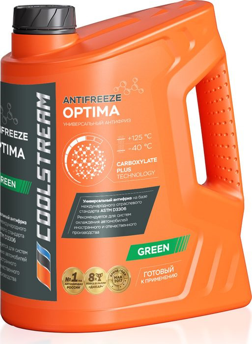 Антифриз CoolStream Optima, CS-010702-GR, зеленый, 5 л