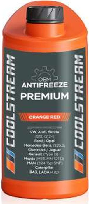 Антифриз CoolStream Premium 40, CS-010101, оранжевый, 1 л антифриз motul inugel optimal ultra концентрат цвет флуоресцентный оранжевый 1 л