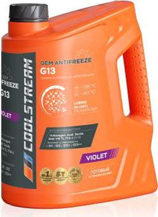 Антифриз CoolStream G13, CS-010302, фиолетовый, 5 л