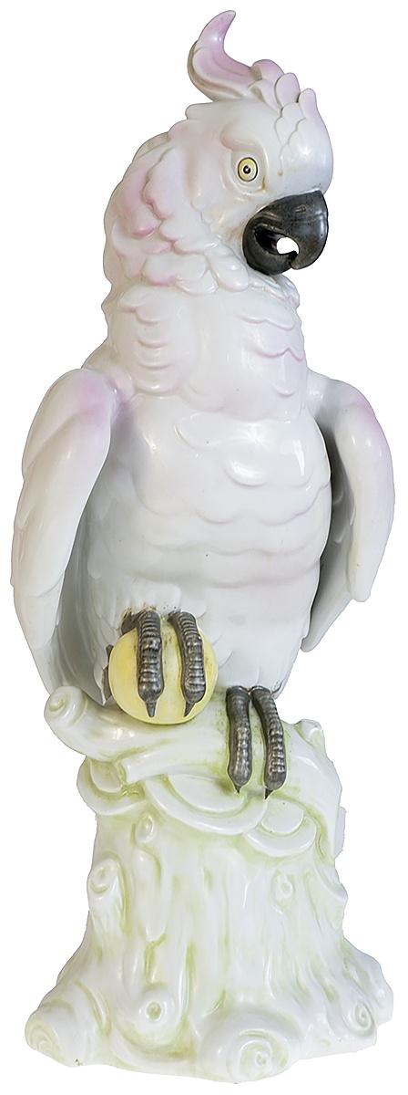 Статуэтка Scheibe-Alsbach Розовый какаду. Фарфор, роспись. Высота 43 см. Германия, первая половина XX века бидермайер