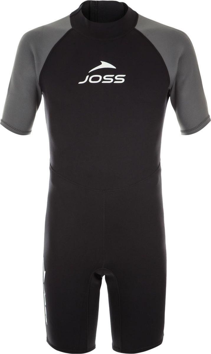 Гидрокостюм мужской Joss Men's Shorty Wetsuit, черный, размер 52 гидрокостюм waterproof shorty w30 мужской размер xl