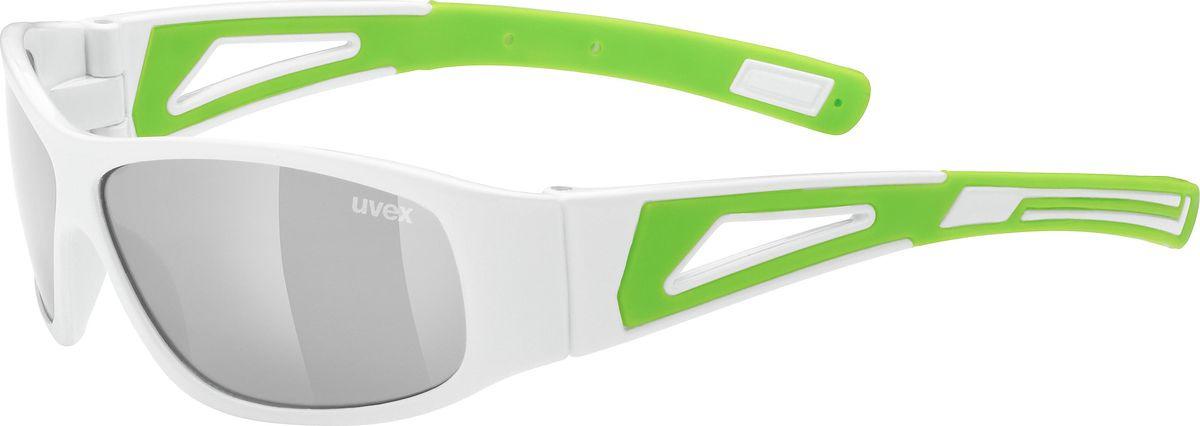 Велосипедные очки Uvex Sportstyle 509 Kids' Sunglasses, белый, зеленый недорго, оригинальная цена