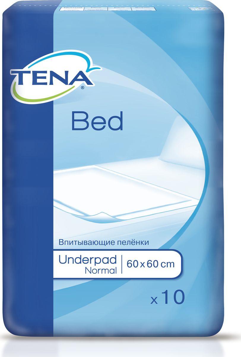 Пеленка одноразовая Tena Bed Normal №10 ловулар простыни впитывающие детские 60х90см 16шт